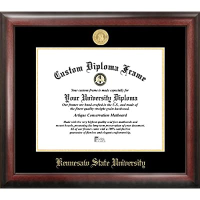 Image of Campus Images GA986GED 'Kennesaw State University Embossed Diploma' Frame, 11' x 14', Gold Document Frames