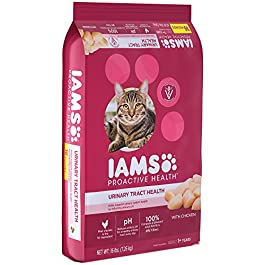 Iams Dry Cat Food Adult Urinary Tract Health Dry Cat Kibble with Chicken