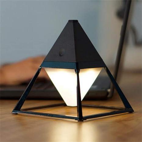 Pirámide Luz de piso Práctica Interruptor táctil Lámparas de ...