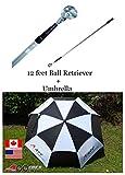A99 Golf Double Cannopy Golf Umbrella fiber glass frame white/black + 12 feet