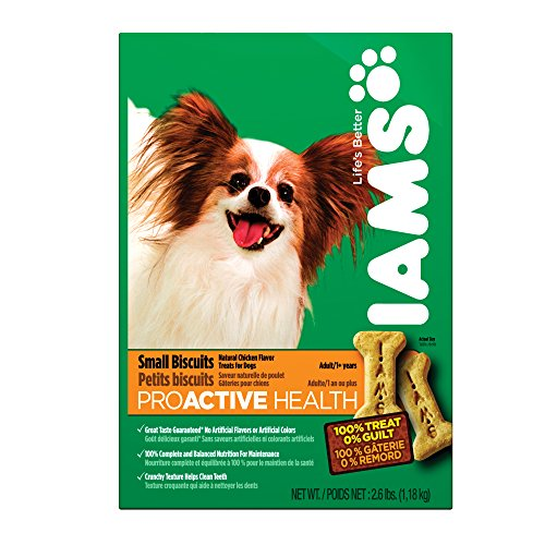 IAMS PROACTIVE HEALTH Adult Small Dog Biscuits Natural Chicken Flavor 2.6 Pounds (Pack of 6) by Iams