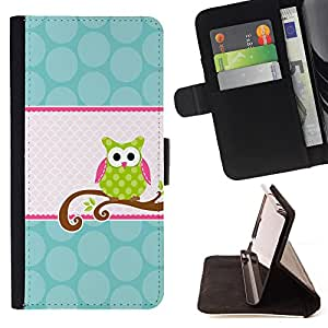 - Owls owl Cute - - Flip Wallet Leather Magnetic Closure Cover Skin Case FOR Apple Iphone 6 PLUS 5.5 Justin City