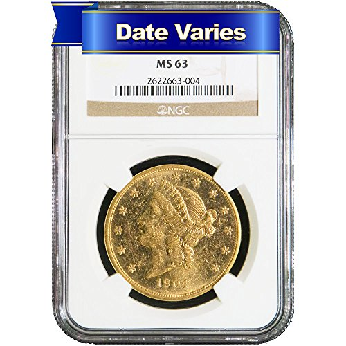 Head Double Eagle Gold Coin - $20 Liberty Head Gold Double Eagle (Random Year) $20 MS63 NGC