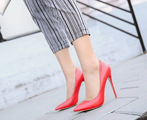 Spring With MDRW Shoes 36 Shoes Fine High Lady Red Match 10Cm Shoes All Mouth Work Elegant Shallow Heeled Pointed Leisure rITFw0Iq