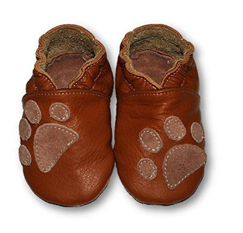Fiorino piel–Patucos de zapatos de bebé lauflern–Zapatos de motivos en diferentes colores y Tamaños azul Fuchs Blau Talla:L Pfote
