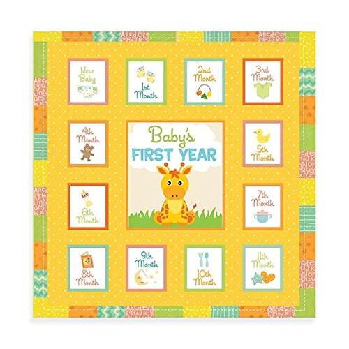 - 12 Inch Baby's First Year Memory Book Album-Animals/Keepsake/Baby Shower Gift/Newborn Gift