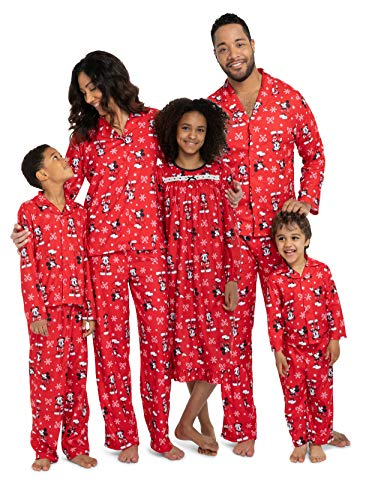 Disney Mickey Mouse Christmas Holiday Family Sleepwear Pajamas Toddler (Toddler Gown Mickey, 3T)