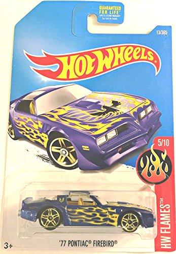 2017 Pontiac Trans Am - Hot Wheels 2017 HW Flames '77 Pontiac Firebird 13/365, Blue