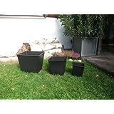 Pflanzeinsatz Blumenkübeleinsatz 30x30x24cm schwarz