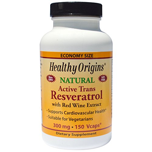 Healthy Origins, Active Trans Resveratrol, 300 mg, 150 Veggie Caps - 2pc by Healthy Origins