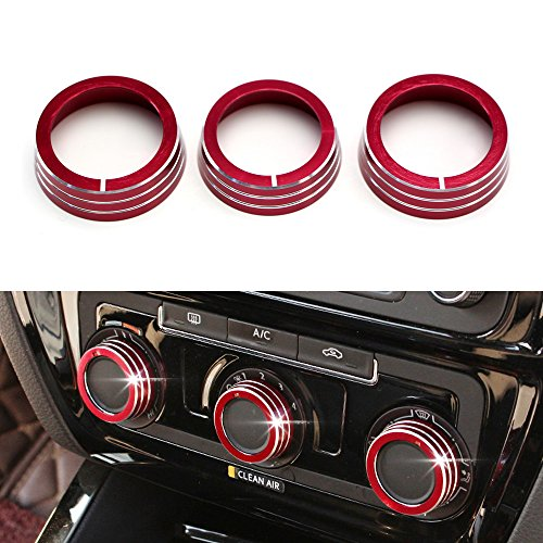 ijdmtoy-3pcs-red-anodized-aluminum-ac-climate-control-ring-knob-covers-for-volkswagen-mk6-golf-gti-j