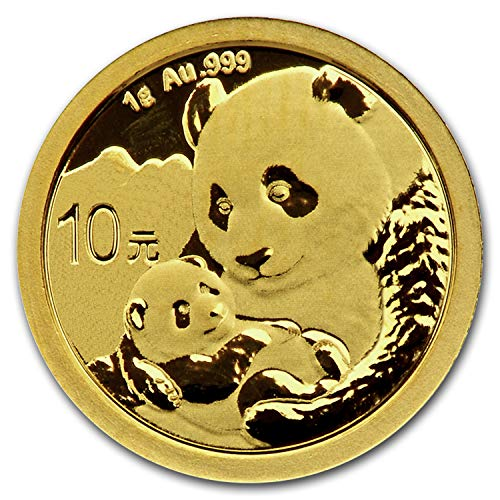 - 2019 CN China 1 gram Gold Panda BU (Sealed) Gold Brilliant Uncirculated