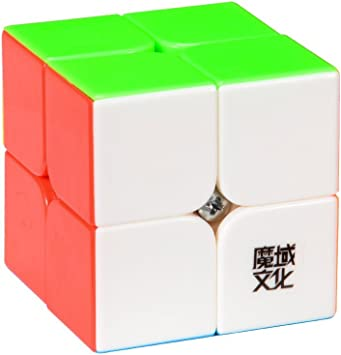 Moyu Lingpo 2x2 Stickerless Cube Speed Puzzle Smooth Cube