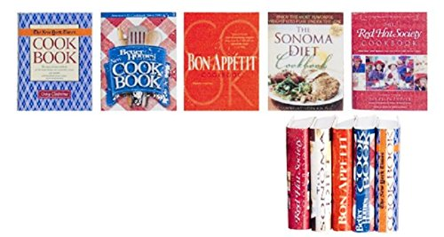 Price comparison product image Dollhouse Miniature Set of Five Cookbooks (Set 1)