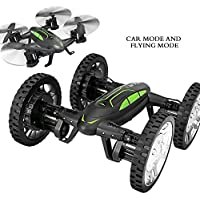 DIY Flying Car Quadcopter, 6 Axis Gyro Remote Control Car Vehicle and Quadcopter Drone With LED lights