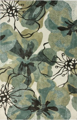 nuLOOM Barcelona Collection Fern Contemporary Machine Made Area Rug, 6 by 9 , Multi