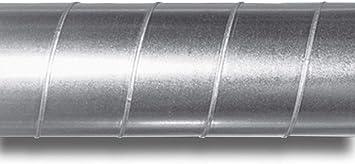 Tubo de ventilación de acero galvanizado (250 mm de diámetro, 1 m de longitud): Amazon.es: Bricolaje y herramientas
