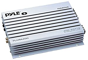 Pyle PLMRA200 400 Watt Bridgeable 2 Channel Waterproof Marine/Car Amplifier