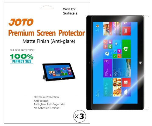 JOTO Premium Screen Protector Film for MS Microsoft Surface 2 Tablet Anti Glare, Anti Fingerprint (Matte Finish) with Lifetime Replacement Warranty (3 Pack)