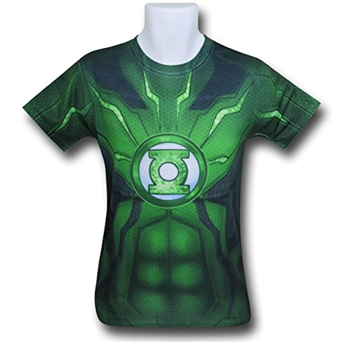 DC Comics Mens Green Lantern Suit Up Sublimated Costume T-shirt (Medium)
