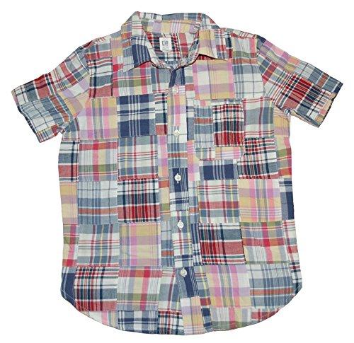Gap Kids Boys Short Sleeve Patchwork Shirt ( Medium 8 ) - Baby Gap Patchwork
