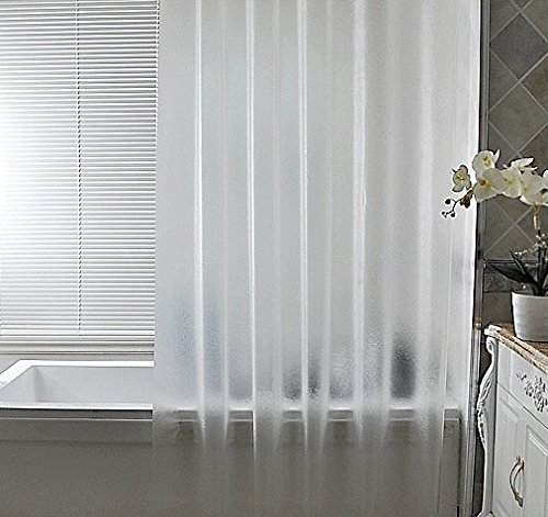 Ufriday Environment-Friendly Shower Curtain Liner EVA Waterproof and - Frosted Shower Curtain Large