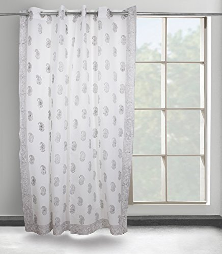 Curtains for Home Living Room Bedroom Blackout Shower Kitchen Window Treatment Home Decorative (Off-white) (Pretty Blackout Curtains)