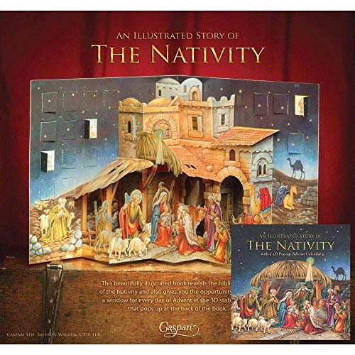 Caspari Nativity 3D Advent Calendar Pop-Up Book - 1 Each