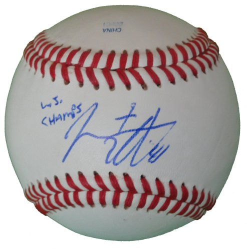 (San Francisco Giants Jeremy Affeldt Autographed Hand Signed Baseball with WS Champs Inscription and Proof Photo of Signing, COA- SF Giants Collectibles)
