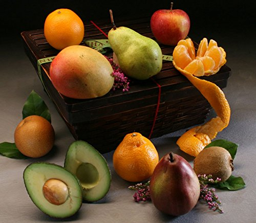 York Fruit Basket: 9 Luscious In-Season Fruits, Hand-Selected & Custom-Packed in Our Keepsake Bamboo Basket with Easy Close Lid | Perfect for Elegant Gift Giving, by Manhattan Fruitier