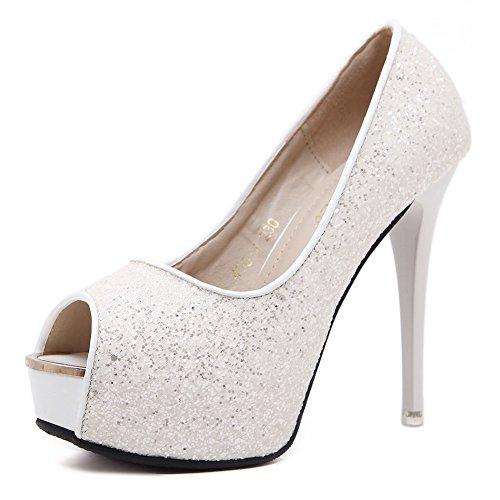 Sconosciuto 1TO9 - Ballerine Donna, Bianco (White), 35 EU