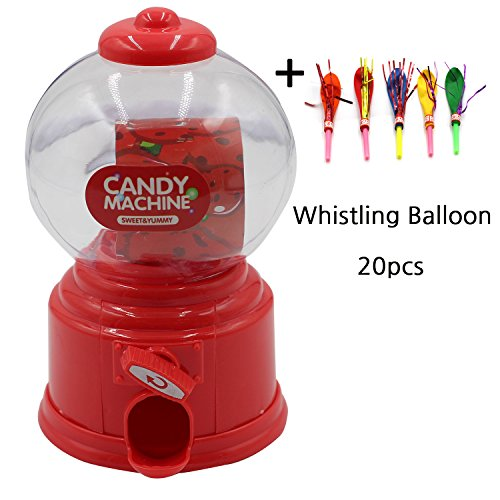 Birthday Party Mini Candy Machine Favor for kids and Whistle Balloon 20pcs set Gift