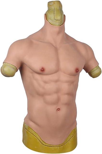 Nouveau Silicone Muscle Costume Macho Fausse Poitrine Muscle artificiel réaliste Cosplay