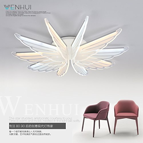 YPOSION Led ceiling light modern minimalist style personality atmospheric lounge light dinner light study master bedroom floral ,800mm - 800 Lamp Pendant Floral