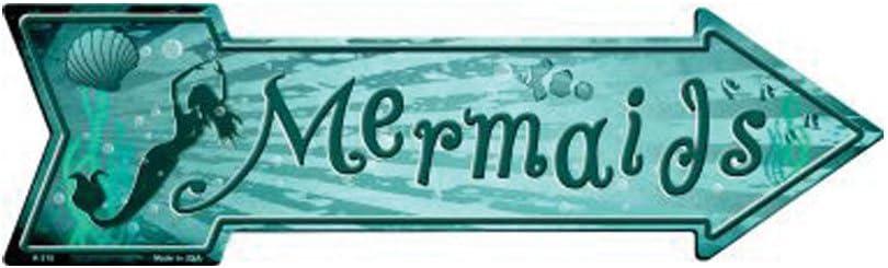 Smart Blonde Mermaids Novelty Metal Arrow Sign A-315
