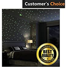 Premium Glow In The Dark Stars Wall Stickers, 100 Glowing Stars And Moon – Perfect Glow Stars for Kids' Rooms, Ceiling Decorations, Romantic Rooms