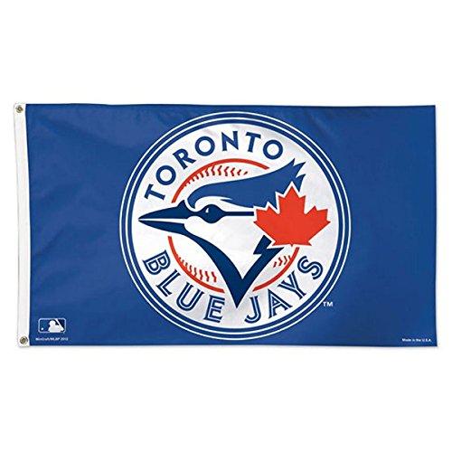 MLB Toronto Blue Jays Deluxe Flag, 3' x (Toronto Blue Jays Banner)