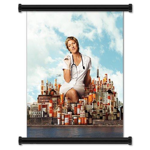 "Nurse Jackie TV Show Season 3 Fabric Wall Scroll Poster (16"" X 20"") Inches"