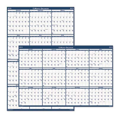 "House of Doolittle Laminated Poster Style Yearly Wall Calendar, January-December, 2013, 18"" x 24"""