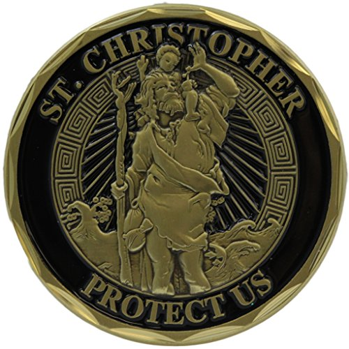 St Christopher Infantry Coin Military Collectibles Veteran Gifts for Men Women