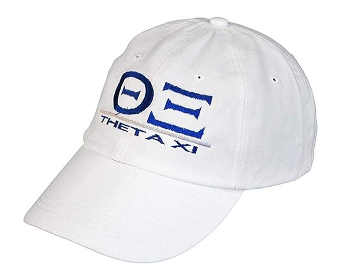Express Design Group Greekgear Theta xi World Famous Line Hat White