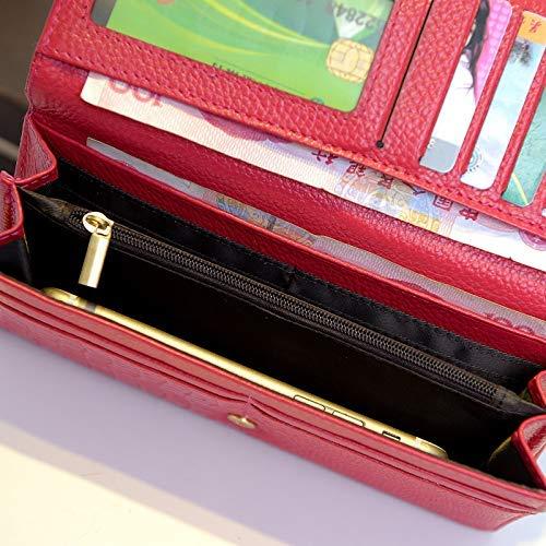 HSDDA Handtasche Handtasche Damen Tasche Damen Leder Geldbörse Lange Handtasche Handtasche Handtasche Europa und die Vereinigten Staaten Wind große Kapazität Geldbörse Kartenhalter B07MKMWBB9 Geldbrsen 4358d2