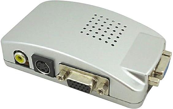 MRLIFY VGA a TV AV Adaptador de señal RCA Convertidor Video Switch Box Compuesto para computadora portátil PC Universal NTSC PAL: Amazon.es: Electrónica