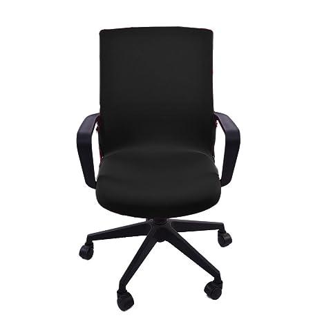 Silla de oficina cubierta giratoria silla ordenador estiramiento giratorio sillón protector tarea Ejecutiva SlipCover Internet universal Desk fundas ...