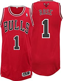 check out b8f9c 9f242 Amazon.com : NBA Chicago Bulls Red Authentic Jersey Derrick ...