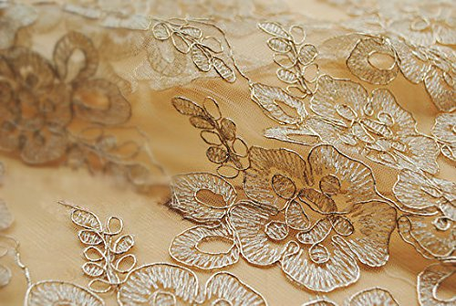 ivory alencon lace mini dress - 1