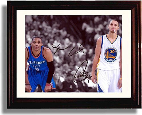 Mvp Autograph - Framed Stephen Curry, Russell Westbrook