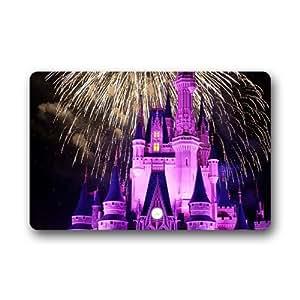 """the castle and Fireworks Custom Doormat Indoor Outdoor Floor Mat (23.6""""x15.7"""")"""