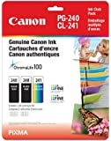Genuine Canon PG-240 Twin CL-241 Ink Cartrige Club Pack, 2 Black and 1 Tri-Colour
