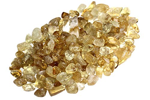 ZenQ 1 lb Citrine Tumbled Stone Chips Crushed Natural Crystal Quartz Pieces